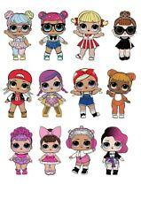"12 x 3"" LOL Doll Surprise Cake Toppers Rice / Wafer Paper (Uncut)"