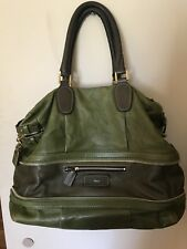 Authentic Chloe Eucalyptus Large Leather Andy Shopper Handbag