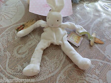 KIDS PREFERRED WHITE BUNNY RABBIT SOFT FIRST TOY BUNNIES BY THE BAY PACI HOLDER