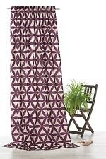 Gardine Dekoschal beere natur Blumen grafisch Vorhang Schlaufenschal pink Typ350