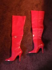 PLEASER Seduce-3010 Sexy Stripper HOT PINK Thigh High Boots Stiletto Heels Sz 9