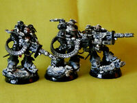 A22 WARHAMMER 40K SPACE MARINES IRON HANDS -PAINTED  SUPPRESSORS  X 3