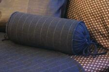 NEW Custom Ralph Lauren Modern Driver Charcoal Stripe Neck Roll Pillow Neckroll