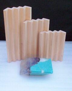 T.S. Pink SoapRocks, Birch Hardwood Soap Rack Dish, 3 sizes, Natural Finish Wood