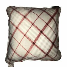 NWT Cuddl Duds Candy Cane Plaid Decorative Pillow 18×18