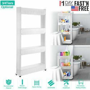 Slim Storage Cart Laundry Room Organizer Narrow Space Shelf Kitchen Storage Unit