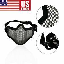 Adjustable Metal Steel Mesh Half Face Mask Protective Shooting Cosplay War Game
