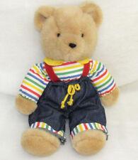 """VTG 14"""" EDEN TEDDY BEAR JEANS SUSPENDERS"""
