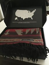 Beautiful Sackcloth and Ashes Wool Blanket Throw Arrow Theme In Original Box
