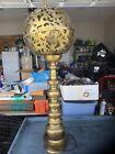 Vintage Oriental Brass  Lamp