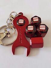 SEDILE Black Top Rosso Ruota della valvola Polvere Tappi & Rosso CHIAVE/PORTACHIAVI tutti i modelli