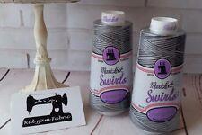 Espresso Silk Maxilock Swirls Decorative Overlocker Thread, variegated rainbow