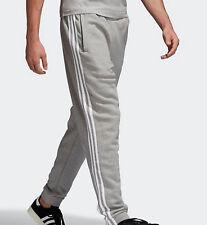 Adidas Originals mens 3 Stripes Sweatpants bottoms trefoil Grey L joggers cotton