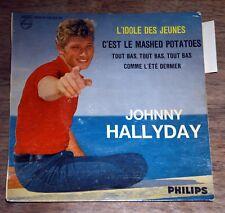 45t EP Johnny Hallyday - L'idole des jeunes - BIEM - LANGUETTE