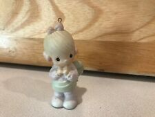 Precious Moments Ornament 1993 Girl Baby's First Christmas