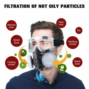 Full Face Respirator for Paint Spray Chemical Gas Cover Safety Work Silicone UK