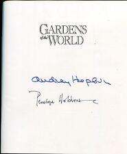 Autographe ORIGINAL de l'Actrice AUDREY HEPBURN sur son livre GARDENS WOLRD 1991