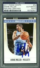 Nets Andre Miller Authentic Signed Card 2011 Panini Hoops #52 PSA/DNA Slabbed