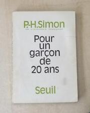 Pour un garçon de 20 ans Pierre-Henri Simon 1967 Envoi