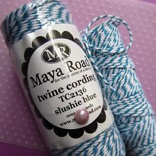 MAYA ROAD ∽ BAKERS TWiNE ∽ 5 (FiVE) METRES ∽ BLUE / WHiTE ∽ SLUSHiE BLUE ~