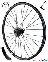 QR 29er wheelsON Rear Wheel MTB Disc + 7 Spd Shimano Freewheel 32H Black
