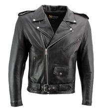 NWT classic Mens Top Grade Genuine Leather Biker Jacket
