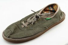 Sanuk Size 8 M Green Lace Up Fashion Sneakers Fabric Wmn Shoe