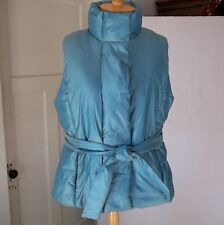 Puffer Vest Ladies Turquoise Blue Luster XL Very Nice! Stylish and Warm