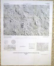 Usgs Mars Photo Map of Aeolis Ne Quad, Vintage 1982 Scarce I-1497 Nice!