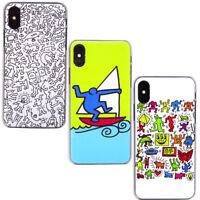 """Pellicola+Custodia cover rigida SERIE ARTE Keith Haring per iPhone X 10 XS 5.8"""""""