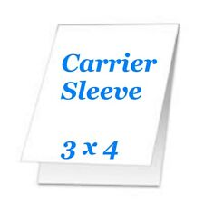 Carrier Sleeve For Laminating Laminator Pouches 5 pk 3-1/8 x 4-1/2 Coated