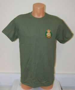 CLEARANCE: Royal Engineers embroidered T-shirt - Military Green Medium