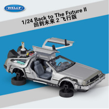 Welly 1:24 Back to the Future 2 Delorean Fly Mode Diecast Model Car New in Box