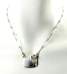 Lapponia Silber Collier Design Björn Weckström, Kette 925 Silber Finnland