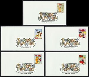 #4467-4471 44c Sunday Funnies, Digital Color FDC **ANY 5=FREE SHIPPING**