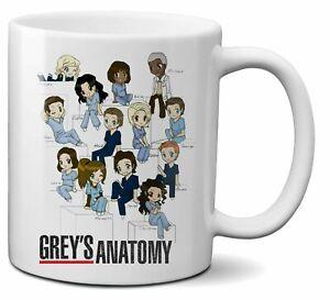 Grey'S Anatomy Mug Doctors Drawing Characters Cute Coffee Tea Funny Gift Cup