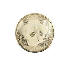 gold-plated cute panda baobao commemorative coins collection art gift HF