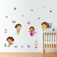 Dora Cartoon kids room decor Art PVC Wall sticker Wallpaper wall decals
