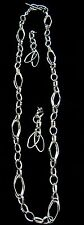 Shane Company Sterling Silver Link Necklace and Matching Earrings