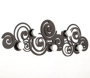 Appendiabiti da Parete salvaspazio moderno Orfeo design Arti e Mestieri in Ferro