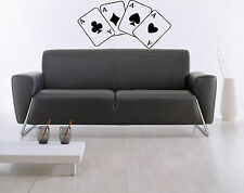 Four Aces Poker Stack Of Cards Mural  Wall Art Decor Vinyl Sticker z556