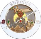 Z-73 White Shriner Auto Emblem Shrine Temple Mason Masonic Car PHA Lodge