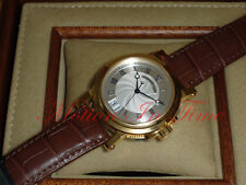 Breguet Marine Automatic Big Date18K Yellow Gold Brown Croc Strap 5817BA/12/9V8