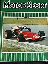 JOCHEN RINDT HOCKENHEIM GERMAN GP 1970 LOTUS 72 LAST WIN F1 + OPEL GT TEST