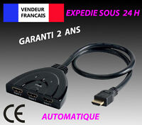 Sélecteur automatique Auto Switch Switcher 3 Port HDMI Hub Commutateur HDTV 1080