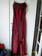 NWT JUNIORS BARN RED PARCO EVENING FORMAL PARTY PROM DRESS SCARF/SASH SZ 0-2 XS