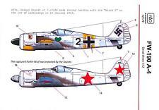 Hungarian Aero Decals 1/72 FOCKE WULF Fw-190A-4 German & Soviet Versions