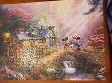 Ceaco Disney Thomas Kinkade Mickey & Minnie Sweetheart Bridge 750 Puzzle Poster