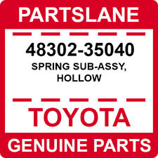 48302-35040 Toyota OEM Genuine SPRING SUB-ASSY, HOLLOW