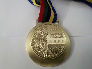 1992 Barcelona Olympic Gold Medal With Ribbon Only One In Ebay With REAL Size !